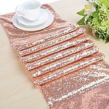 Rose Gold Sequin Table Runner Sparkly Centerpieces