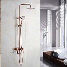 Rose Gold Shower kit for Bathroom Shower Mixer 8