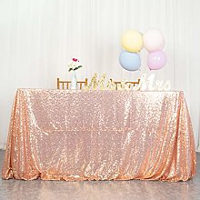 Rose Gold Tablecloths Sequin Tablecloth