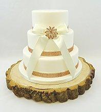 ROSE GOLD WEDDING CAKE – BRIDAL BROOCH RIBBON &