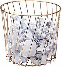 Rose Gold Wire Bin | Multi-Purpose Storage Basket