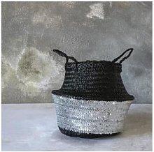 Rose Hill Boutique - Medium Black Basket with