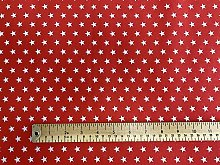 Rose & Hubble White Stars on Red Background -