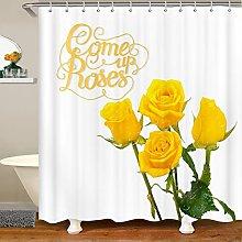 Rose Shower Curtain for Rose Floral Bathroom