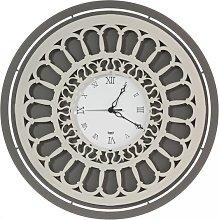 Rose Window Clock 3302 Arti e Mestieri