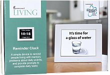 Rosebud Dementia Reminder Clock - White frame