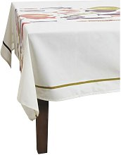 Rosecrest Fishes Coated Cotton Tablecloth