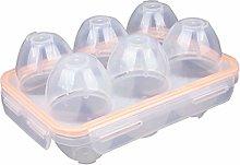 RoseFlower 6 Grids Portable Egg Carrier Holder,