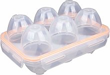 RoseFlower 6 Grids Portable Egg Carrier Holder,