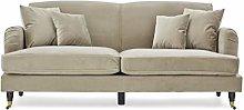 Roseland Furniture - Piper Beige Velvet Fabric