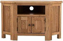 Roseland Furniture Zelah Oak Corner TV Cabinet