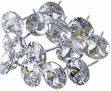 ROSENICE 25mm Sew Buttons Diamond Crystal