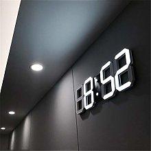 Rosepoem 3D LED Digital Alarm Clock, Wall Clock,