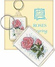 Roses Keyring Cross Stitch Ki