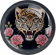 Roses Leopardknobs Cabinet Handles Kitchen pulls