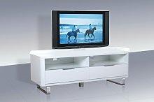 Roseta TV Stand Rectangular In White High Gloss