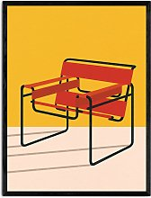 Rosi Feist - 'Wassily Chair' Wood Framed