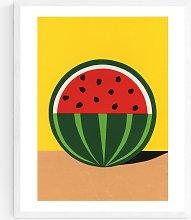 Rosi Feist - Quarter Watermelon Wood Framed Print,
