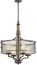 Rosiclare 4-Light Drum Chandelier Marlow Home Co.