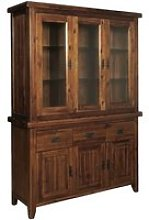 Ross Display Cabinet In Acacia Finish With Three