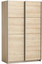 Rossett Wooden Sliding Wardrobe In Shanon Oak And