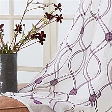 rostsp Curtain Topfinel Geometric Circle Sheer