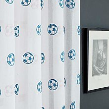 rostsp Voile Curtain Panel Football Curtains