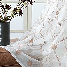 rostsp Voile Curtain Panel Topfinel Geometric