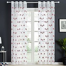 rostsp Voile Football Curtains Embroidered