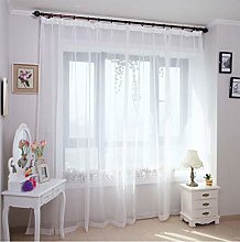 rostsp Voile White Sheer Curtains Window Tulle