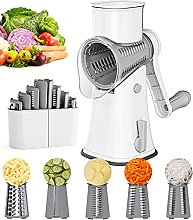 Rotary Cheese Grater Vegetable Slicer, Ourokhome 5