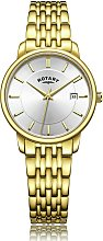 Rotary Ladies Gold Plated Bracelet Watch