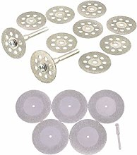Rotary Tool Accessories Kit 10PCS 22mm Diamond Saw