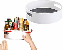 Rotatable Spice Rack Kitchen Storage Organizer for