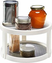 Rotatable Spice Rack with 2 Tiers,Freestanding