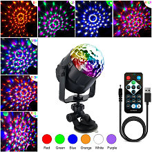 Rotating disco light ball for party with USB