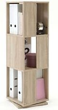 Rotating Filing Cabinet Open 34x34x108 cm Oak - FMD