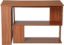 Rotating L-Shaped Corner Desk Table Storage Shelf