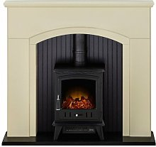 Rotherham Stove Fireplace in Stone Effect with