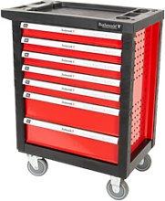 Rothewald tool trolley 7 drawers red/black