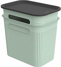 Rotho Brisen Set of 2 Storage Boxes 7 L with Lid,