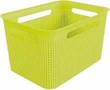 Rotho, Brisen, Storage box 16 l with hole pattern,