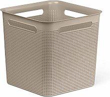 Rotho, Brisen, Storage box 18 l with hole pattern,