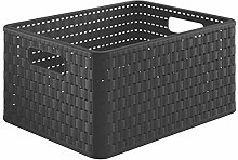 Rotho Country Storage Box 18 L Rattan Look Plastic