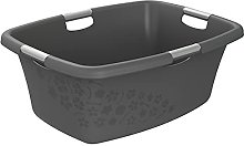 Rotho Flowers Laundry Basket, Plastic (PP) BPA ,