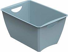 Rotho Storage Box, plastic (pp), Blue, 23 liter