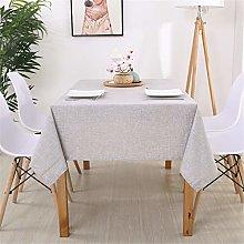 ROTIN Simple Cotton Linen Tablecloth Plain