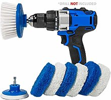RotoScrub Bathroom Cleaning Scrub Pads + Drill