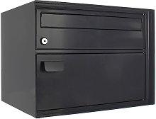 Rottner Enzian Black-gray Swiss Mailbox