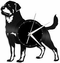 Rottweiler vinyl wall clock, vinyl record home